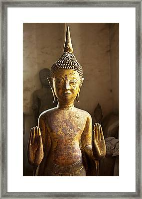 Buddhist Statues G - Photograph By Jo Ann Tomaselli  Framed Print
