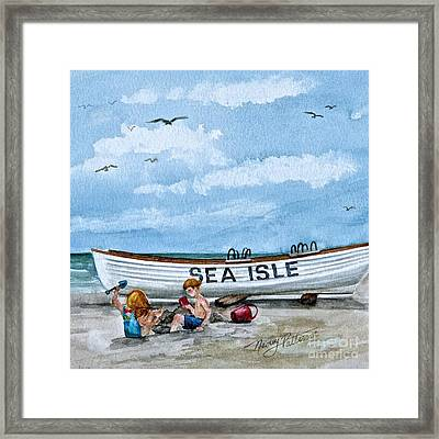 Buddies In Sea Isle City 2 Framed Print