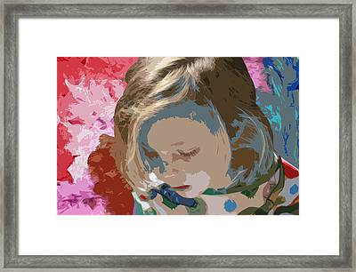 Budding Artist Framed Print by Ellen Henneke