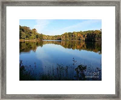Buddy Attick Lake Park Framed Print by Emmy Vickers