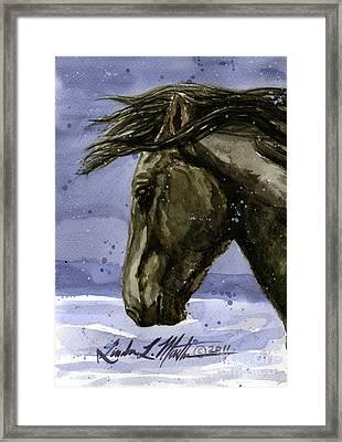 Buddy Bachelor Stallion Of Sand Wash Basin Framed Print
