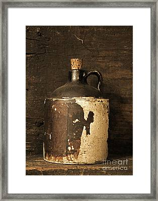 Buddy Bear Moonshine Jug Framed Print by John Stephens