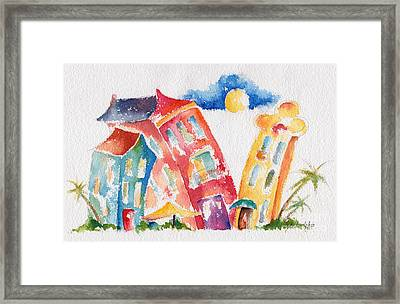 Buddy Buildings Framed Print