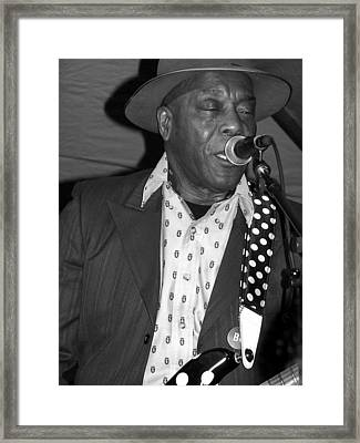 Buddy Guy Sings The Blues Framed Print