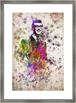 Buddy Holly In Color Framed Print