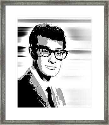 Buddy Holly Pop Art Framed Print