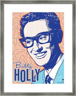 Buddy Holly Pop Art Framed Print
