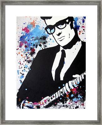 Buddy Holly Framed Print by Venus