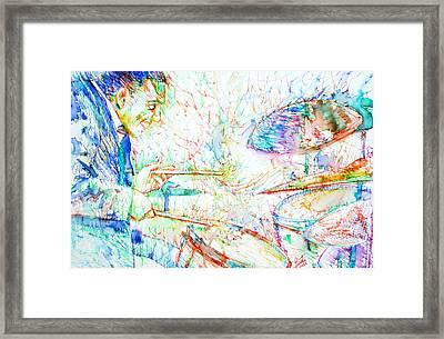 Buddy Rich Playing Framed Print