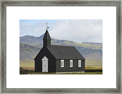 Budir Church Stadarsveit, Snaefellsnes Framed Print by Michael Thornton