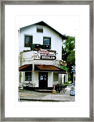 Bud's Broiler Framed Print by Scott Pellegrin