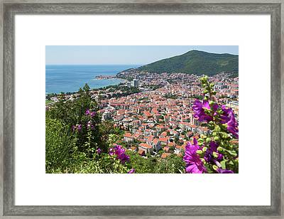 Budva, Montenegro. Overall View Framed Print