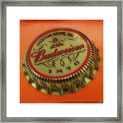 Budweiser Cap Framed Print by Tony Rubino