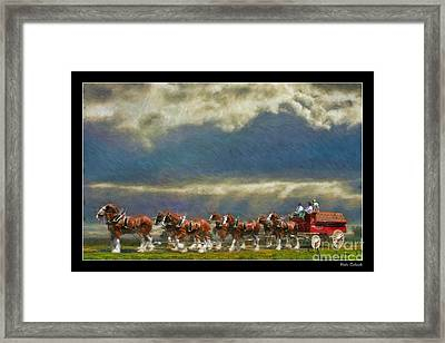Budweiser Clydesdale Paint 2 Framed Print by Blake Richards