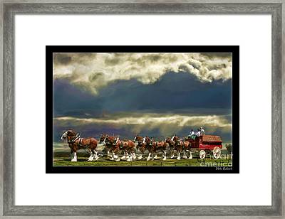 Budweiser Clydesdales Paint 1 Framed Print by Blake Richards
