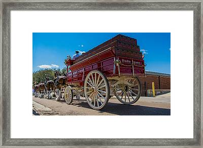 Budweiser Wagon Framed Print by Michael Chapman
