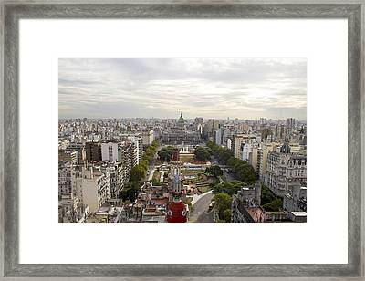 Buenos Aires Congress Framed Print by For Ninety One Days