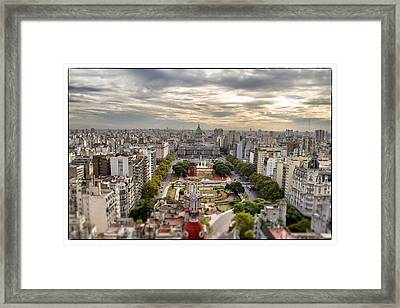 Buenos Aires Congress Tilt Shift Framed Print by For Ninety One Days