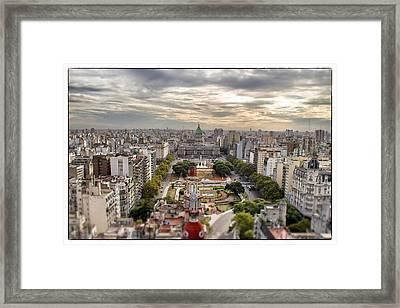 Buenos Aires Congress Tilt Shift Framed Print