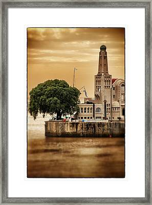 Buenos Aires Lighthouse Dramatic Framed Print by For Ninety One Days
