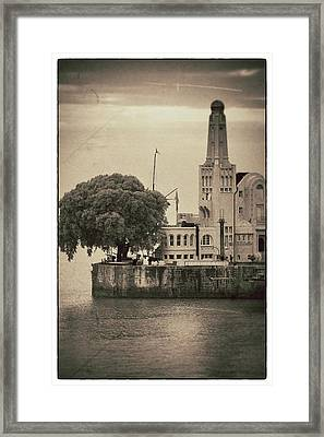 Buenos Aires Lighthouse Vintage Framed Print by For Ninety One Days