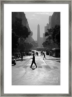 Buenos Aires Obelisk II Framed Print