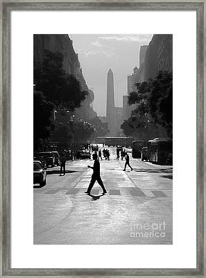 Framed Print featuring the photograph Buenos Aires Obelisk II by Bernardo Galmarini