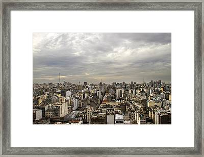 Buenos Aires Panorama Framed Print by For Ninety One Days