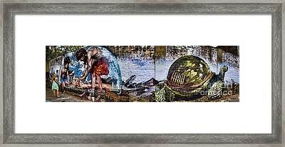 Buenos Aires Street Art With Girl Framed Print