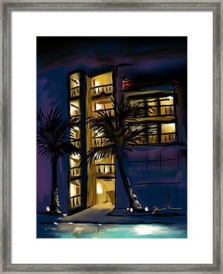 Buenos Noches Gloria Framed Print