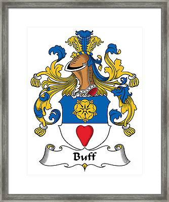 Buff Coat Of Arms German Framed Print by Heraldry