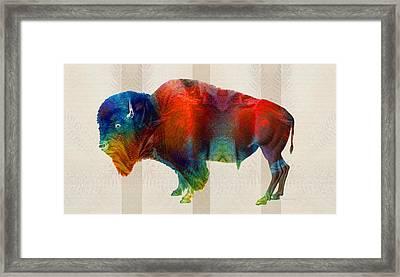 Buffalo Animal Print - Wild Bill - By Sharon Cummings Framed Print