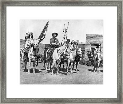 Buffalo Bill And Friends Framed Print by Underwood Archives