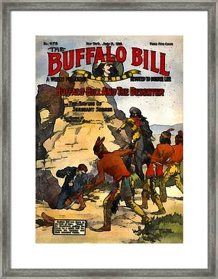 Buffalo Bill And The Deserter Framed Print by Dime Novel Collection