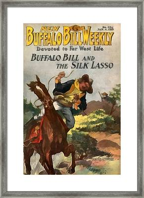 Buffalo Bill And The Silk Lasso Framed Print by Dime Novel Collection