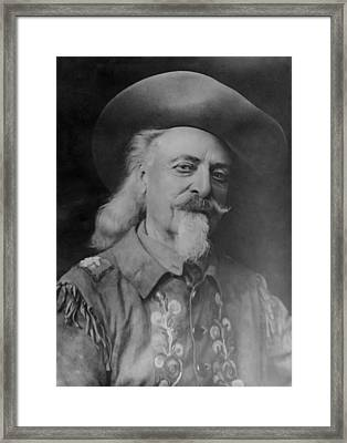 Framed Print featuring the photograph Buffalo Bill Cody by Charles Beeler