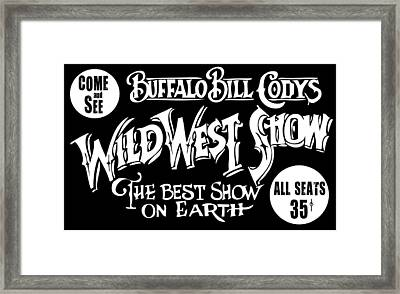 Buffalo Bill Cody Sign 2 Framed Print