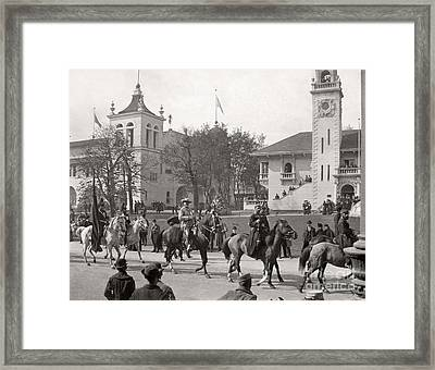 Framed Print featuring the photograph Buffalo Bill Columbian Exposition 1893 by Martin Konopacki Restoration