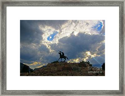 Buffalo Bill Monument Framed Print