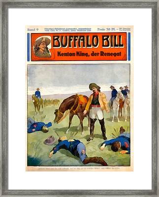 Buffalo Bill The Renegade  Framed Print by Dime Novel Collection