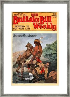 Buffalo Bill Weekly Framed Print by Dime Novel Collection