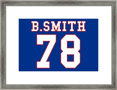Buffalo Bills Bruce Smith Framed Print by Joe Hamilton