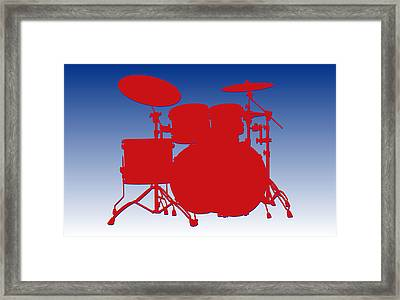 Buffalo Bills Drum Set Framed Print by Joe Hamilton