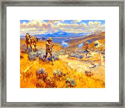 Buffalo Bills Duel With Yellowhand Framed Print
