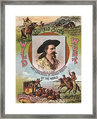 Buffalo Bills Wild West Framed Print by Unknown