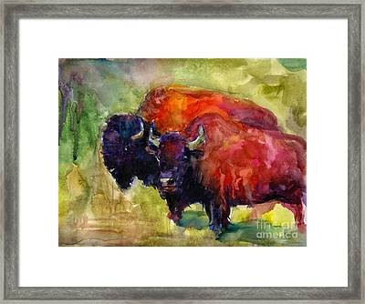 Buffalo Bisons Painting Framed Print