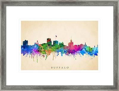 Buffalo Cityscape Framed Print