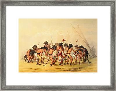 Buffalo Dance Framed Print by George Catlin