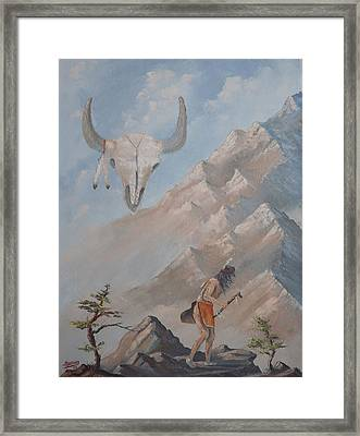 Framed Print featuring the painting Buffalo Dancer by Richard Faulkner