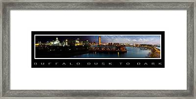 Buffalo Dusk To Dark 2 Framed Print by Peter Chilelli